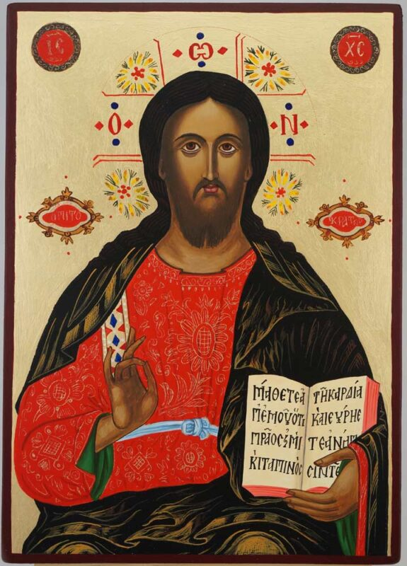 Jesus Christ the Teacher Icon Hand Painted Byzantine Orthodox