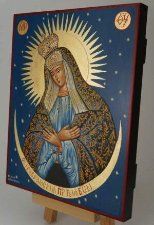 Mother of God Ostrobramska Icon Hand Painted Greek Christian Orthodox
