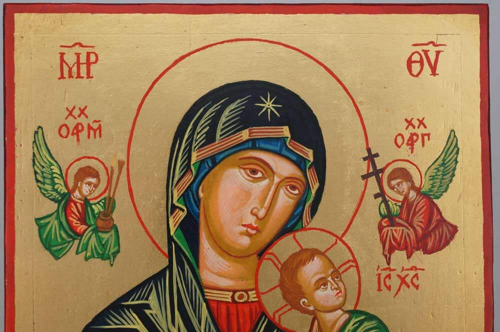 Our Lady of Perpetual Help OLPH Hand Painted Icon on Wood