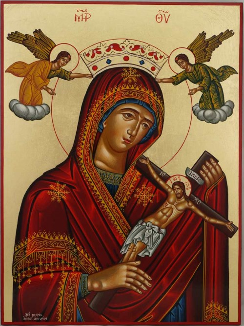 Panagia tou Harou Icon Hand Painted Greek Orthodox Byzantine