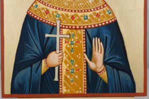 Saint Alexandra the Queen Hand Painted Orthodox Icon on Wood