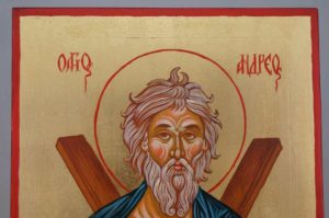 Saint Andrew the Apostle Hand Painted Greek Orthodox Icon on Wood