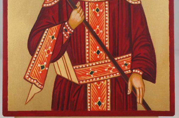 Saint Constantine Hand Painted Byzantine Orthodox Icon on Wood