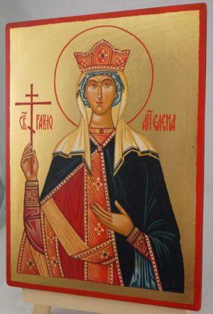 Saint Helen Helena Hand Painted Byzantine Orthodox Icon on Wood