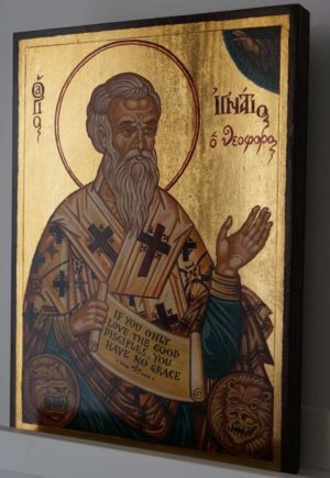 Saint Ignatius of Antioch Hand Painted Greek Orthodox Icon