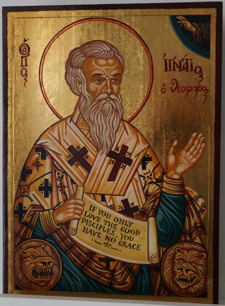 Saint Ignatius of Antioch Hand Painted Greek Orthodox Icon