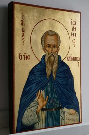 Saint John Climacus Hand Painted Greek Orthodox Icon