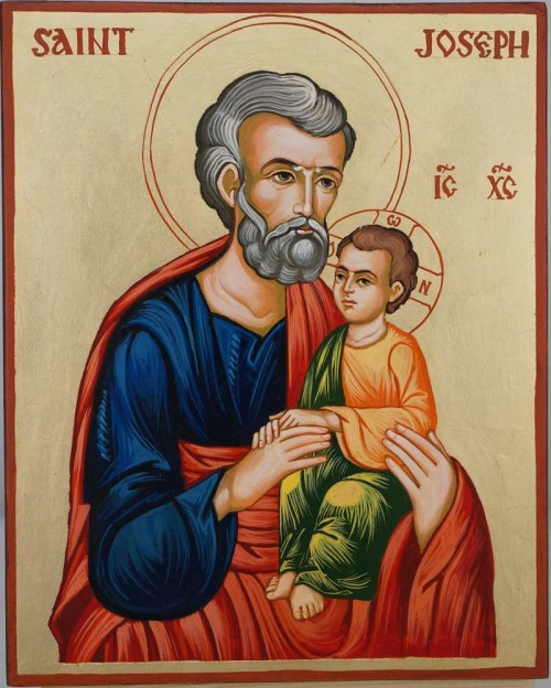 Saint Joseph Hand Painted Orthodox Icon on Wood
