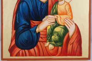Saint Joseph Hand Painted Orthodox Icon on Wood