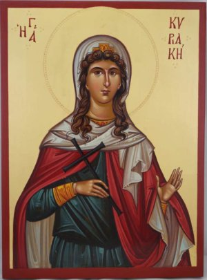 Saint Kyriaki the Great Martyr Hand Painted Icon Byzantine Orthodox