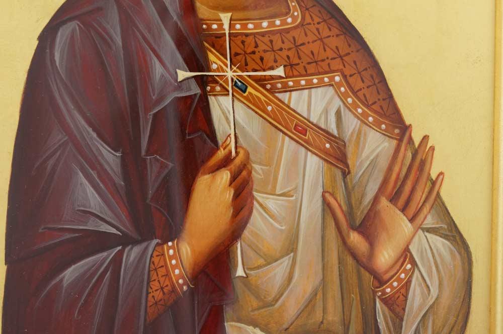 Saint Martyr Menas Hand Painted Icon Framed Byzantine Orthodox