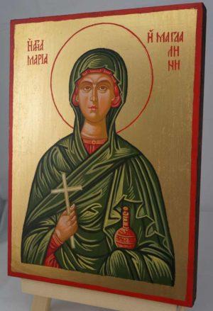 Saint Mary Magdalene Hand Painted Orthodox Icon on Wood