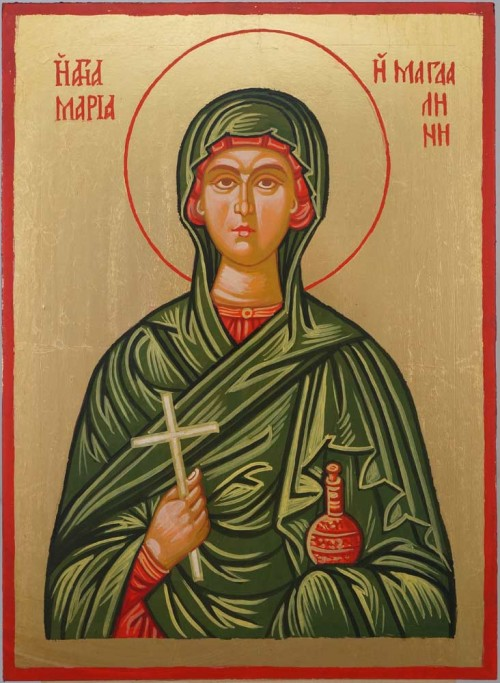 Saint Mary Magdalene Hand Painted Orthodox Icon on Wood