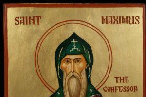 Saint Maximus the Confessor Hand Painted Orthodox Icon