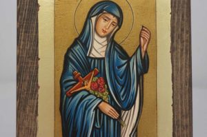 Saint Rita small Hand Painted Icon Byzantine Orthodox