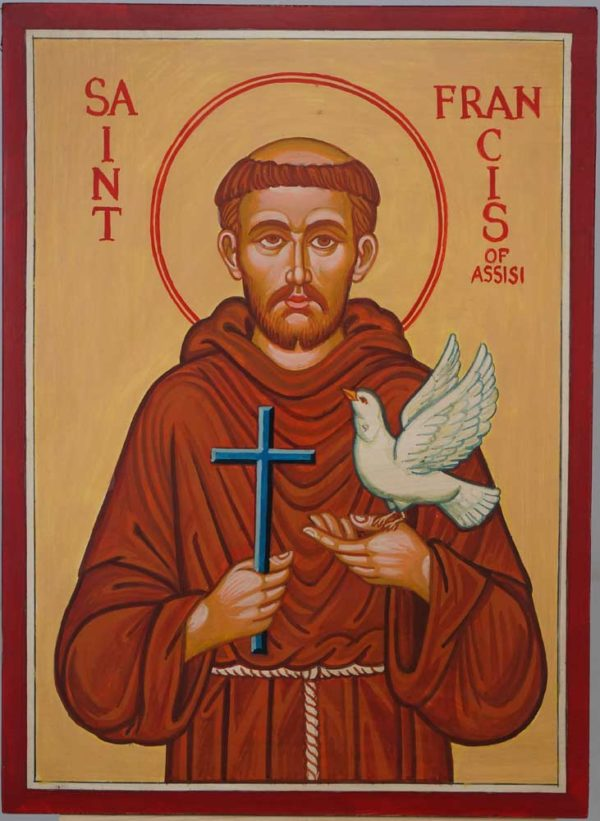 St Francis of Assisi Hand Painted Icon