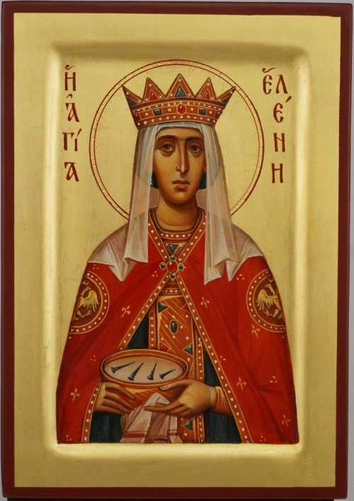 St Helen Equal to Apostles Icon Hand Painted Byzantine Orthodox