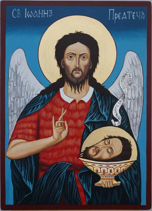 St John the Forerunner Hand Painted Orthodox Icon on Wood