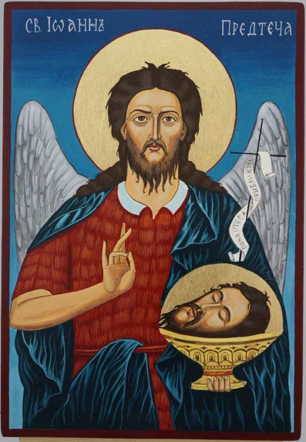 St John the Forerunner Icon Hand Painted Byzantine Orthodox