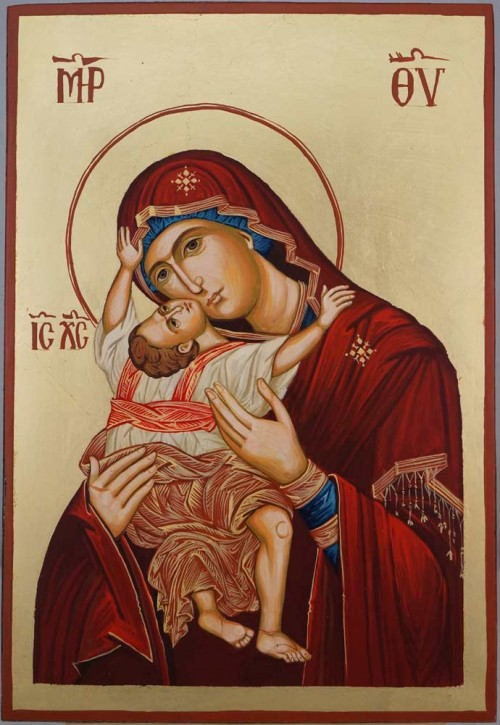 Theotokos Kardiotissa Hand Painted Orthodox Icon on Wood