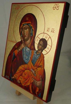 Theotokos Paramythia Hand Painted Greek Orthodox Icon on Wood
