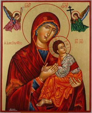 Theotokos of the Passion Icon Hand Painted Greek Orthodox Byzantine