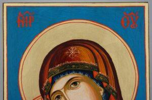 Virgin Mary Rilska Eleusa Large Hand Painted Orthodox Icon