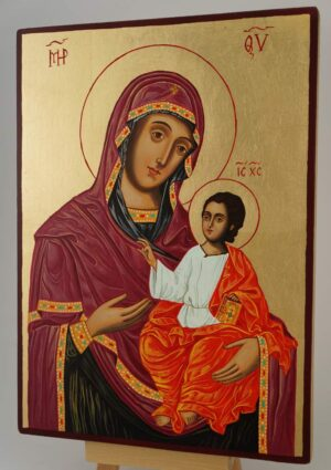 Virgin Mary the Guide Icon Hand Painted Byzantine Orthodox