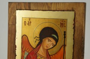 Archangel Michael Rublev small Icon Hand Painted Byzantine Orthodox
