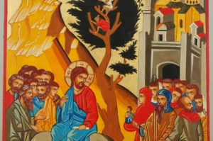 Entry Into Jerusalem Palm Sunday Hand Painted Icon Byzantine Orthodox on Wood
