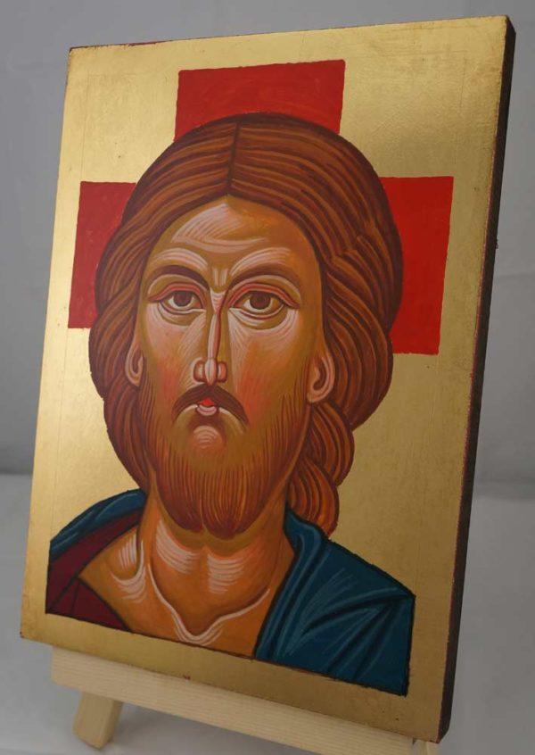 Jesus Christ Hand Painted Orthodox Icon on Wood