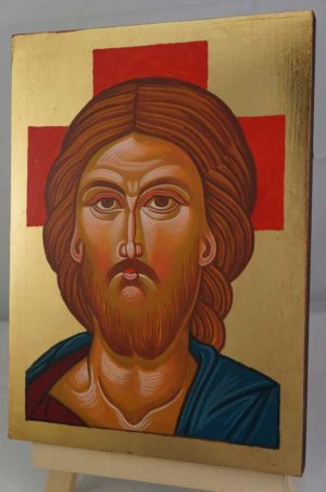 Jesus Christ Hand Painted Orthodox Icon on Wood