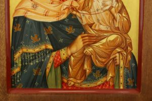 Konevskaya Mother of God and Mary Magdalene Hand Painted Diptych Icon Byzantine