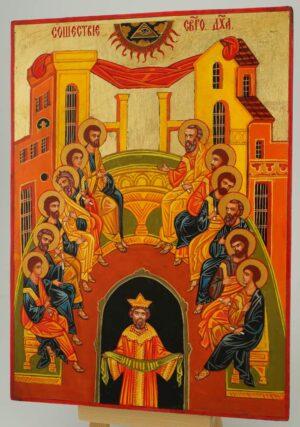 Pentecost Icon Hand Painted Byzantine Orthodox
