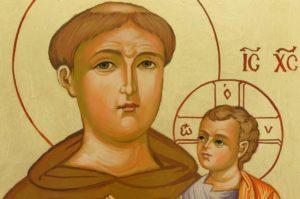 Saint Anthony of Padua Hand Painted Icon on Wood