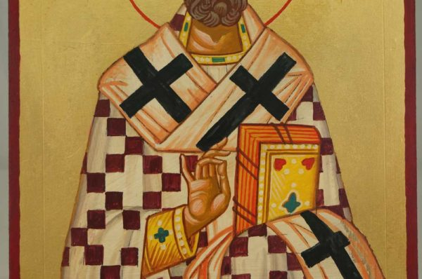 Saint Augustine of Hippo Hand Painted Hand Painted Icon on Wood