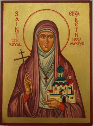 Saint Elizabeth the New Martyr Han Painted Orthodox Icon