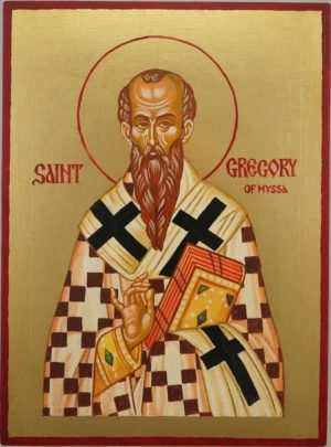 Saint Gregory of Nyssa Hand Painted Orthodox Icon on Wood