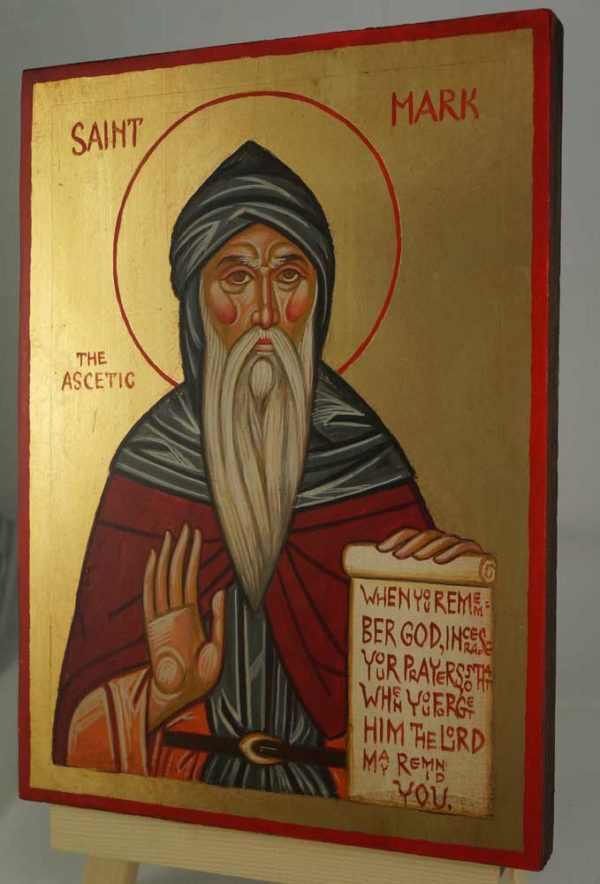Saint Mark the Ascetic of Egypt Hand Painted Byzantine Orthodox Icon on Wood
