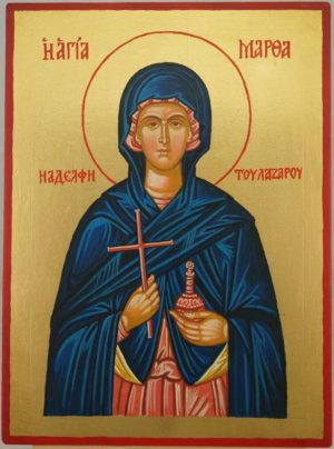 Saint Martha of Bethany Hand Painted Byzantine Orthodox Icon