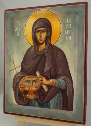 Saint Paraskevi Petka Hand Painted Byzantine Orthodox Icon on Wood