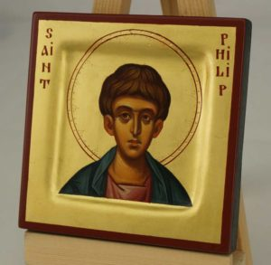 Saint Philip the Apostle Miniature Icon Hand Painted Byzantine Orthodox