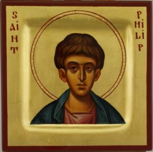 Saint Philip the Apostle Miniature Icon Hand Painted Byzantine Orthodox