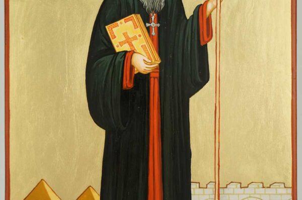 Saint Severus of Antioch Icon Hand Painted Byzantine Orthodox