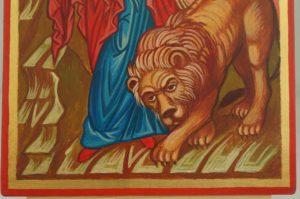 Saint Tatiana the Martyr Hand Painted Orthodox Icon Lion