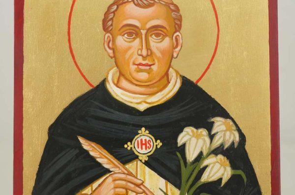Saint Thomas Aquinas Hand Painted Roman Catholic Icon