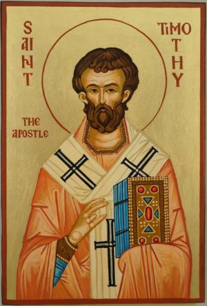 Saint Timothy the Apostle Hand Painted Orthodox Icon