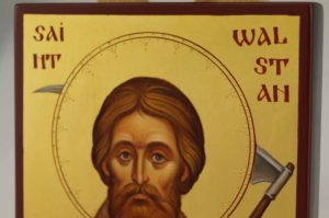 Saint Walstan of Bawburgh Hand Painted Orthodox Icon