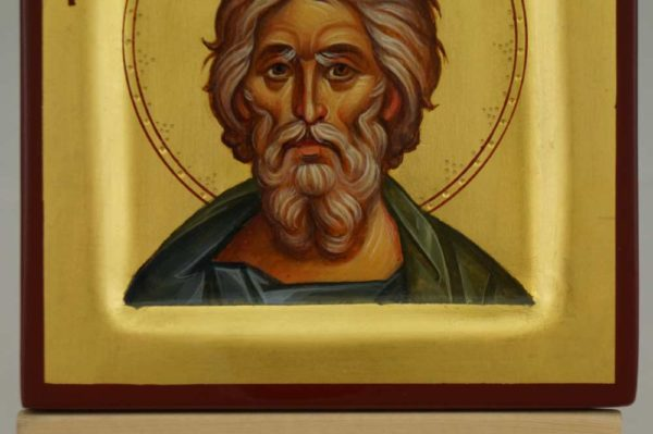 St Andrew the Apostle miniature Hand Painted Byzantine Orthodox Icon