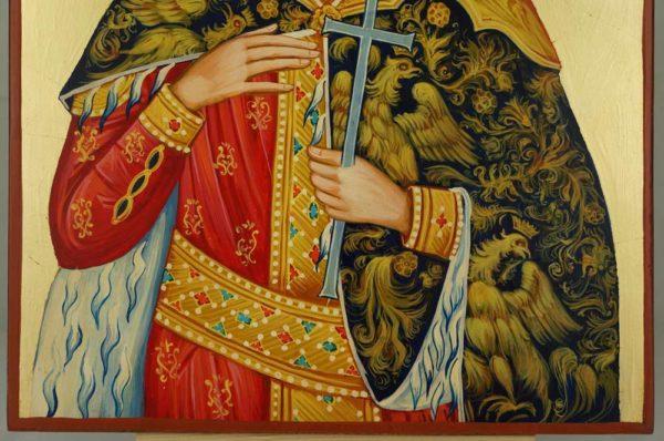 St Catherine of Alexandria cm Hand Painted Orthodox Icon on Wood